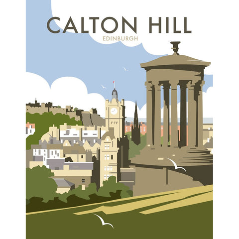 "THOMPSON207: Calton Hill, Edinburgh 24"" x 32"" Matte Mounted Print"