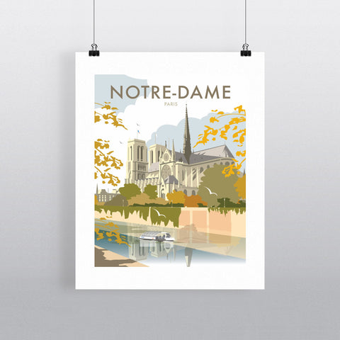 "THOMPSON209: Notre-Dame, Paris 24"" x 32"" Matte Mounted Print"