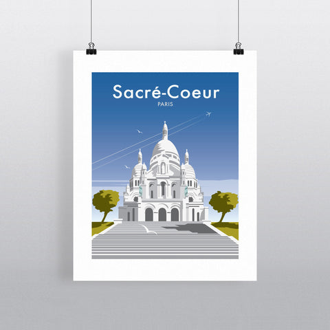 "THOMPSON210: Sacre-Cour, Paris 24"" x 32"" Matte Mounted Print"