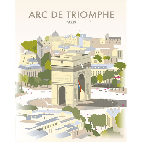 "THOMPSON211: Arc De Triomphe, Paris 24"" x 32"" Matte Mounted Print"