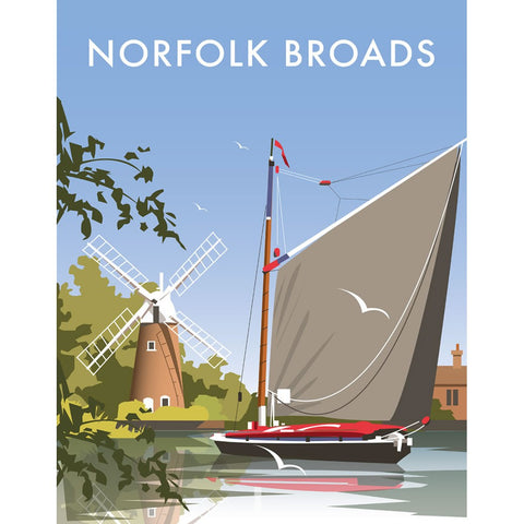 "THOMPSON215: The Norfolk Broads 24"" x 32"" Matte Mounted Print"