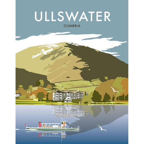 "THOMPSON217: Ullswater 24"" x 32"" Matte Mounted Print"