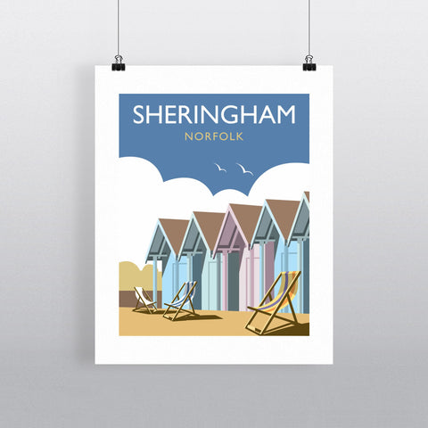 "THOMPSON223: Sheringham, Norfolk 24"" x 32"" Matte Mounted Print"