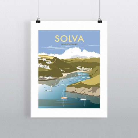 "THOMPSON224: Solva, South Wales 24"" x 32"" Matte Mounted Print"