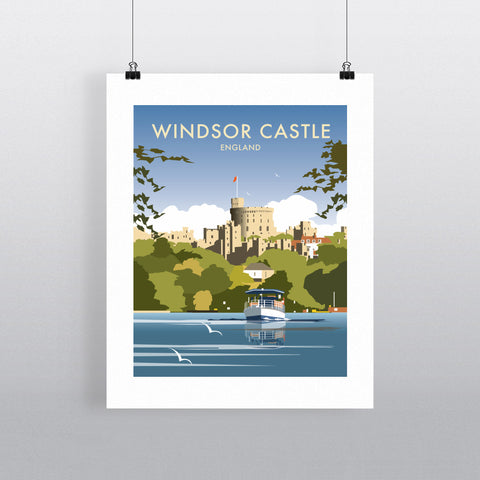 "THOMPSON260: Windsor Castle 24"" x 32"" Matte Mounted Print"