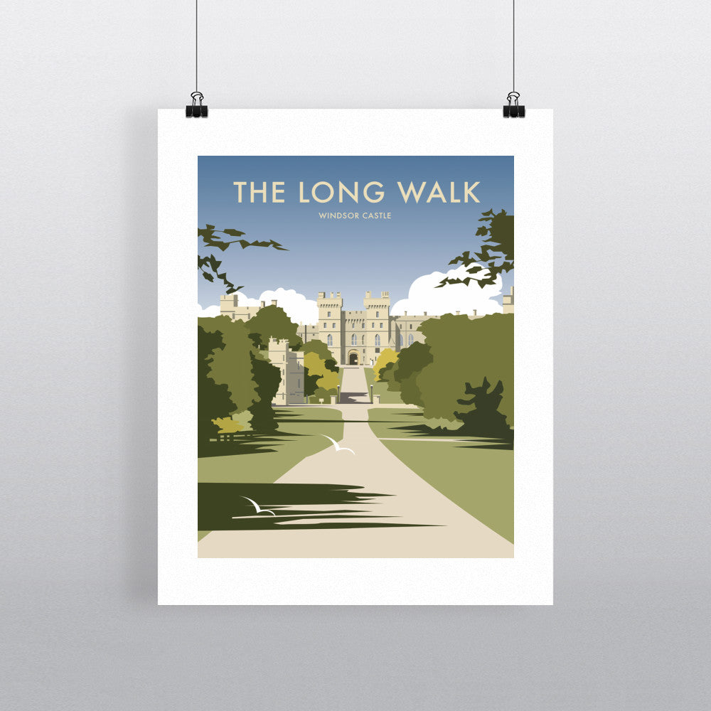 "THOMPSON261: The Long Walk, Windsor Castle 24"" x 32"" Matte Mounted Print"