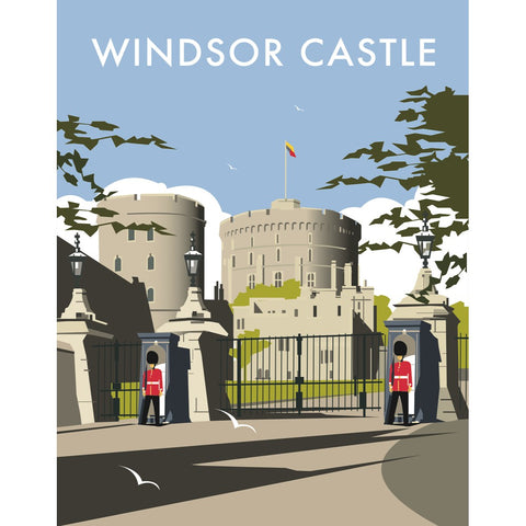 "THOMPSON262: Windsor Castle 24"" x 32"" Matte Mounted Print"
