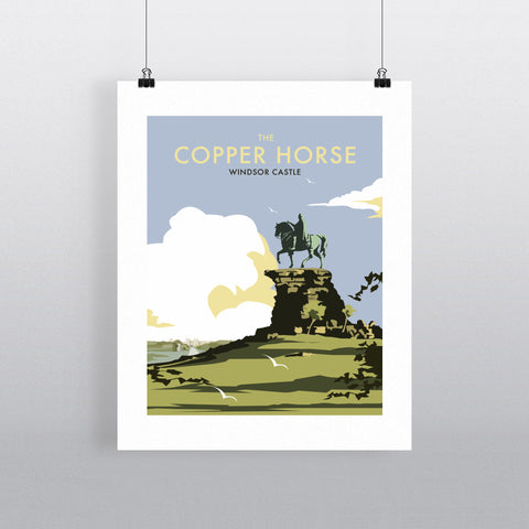 "THOMPSON263: The Copper Horse, Windsor Castle 24"" x 32"" Matte Mounted Print"