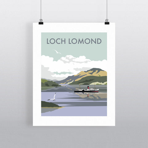 "THOMPSON266: Loch Lomond 24"" x 32"" Matte Mounted Print"