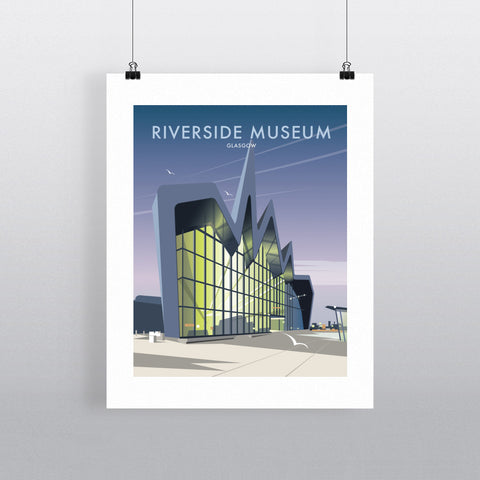 "THOMPSON268: Riverside Museum, Glasgow 24"" x 32"" Matte Mounted Print"