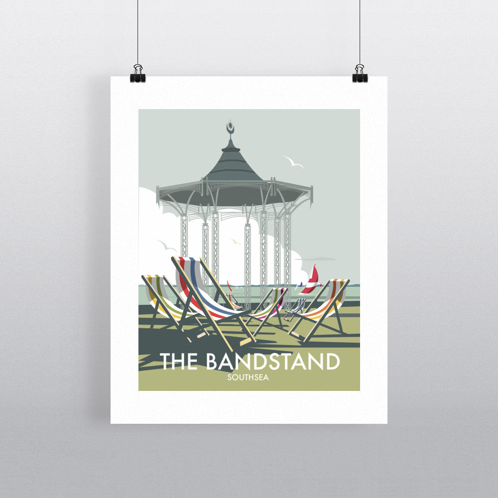 "THOMPSON269: The Bandstand, Southsea 24"" x 32"" Matte Mounted Print"