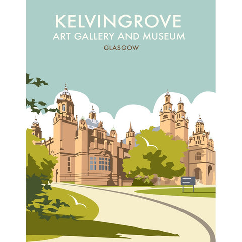 "THOMPSON270: Kelvingrove Art Gallery, Glasgow 24"" x 32"" Matte Mounted Print"