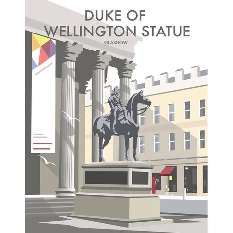 "THOMPSON271: Duke Of Wellington Statue, Glasgow 24"" x 32"" Matte Mounted Print"