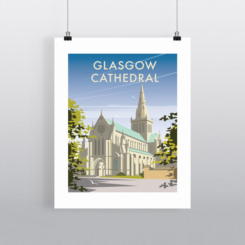 "THOMPSON272: Glasgow Cathedral 24"" x 32"" Matte Mounted Print"