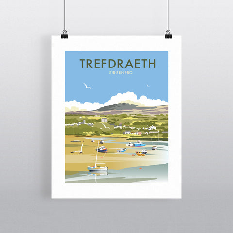 "THOMPSON273: Trefdraeth, Wales 24"" x 32"" Matte Mounted Print"