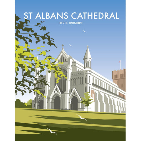 "THOMPSON278: St. Albans Cathedral 24"" x 32"" Matte Mounted Print"