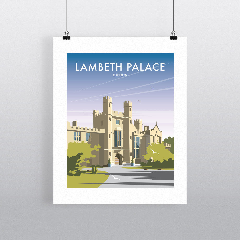 "THOMPSON279: Lambeth Palace 24"" x 32"" Matte Mounted Print"