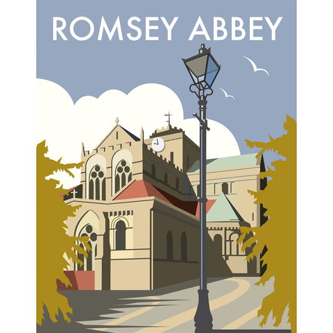 "THOMPSON281: Romsey Abbey 24"" x 32"" Matte Mounted Print"