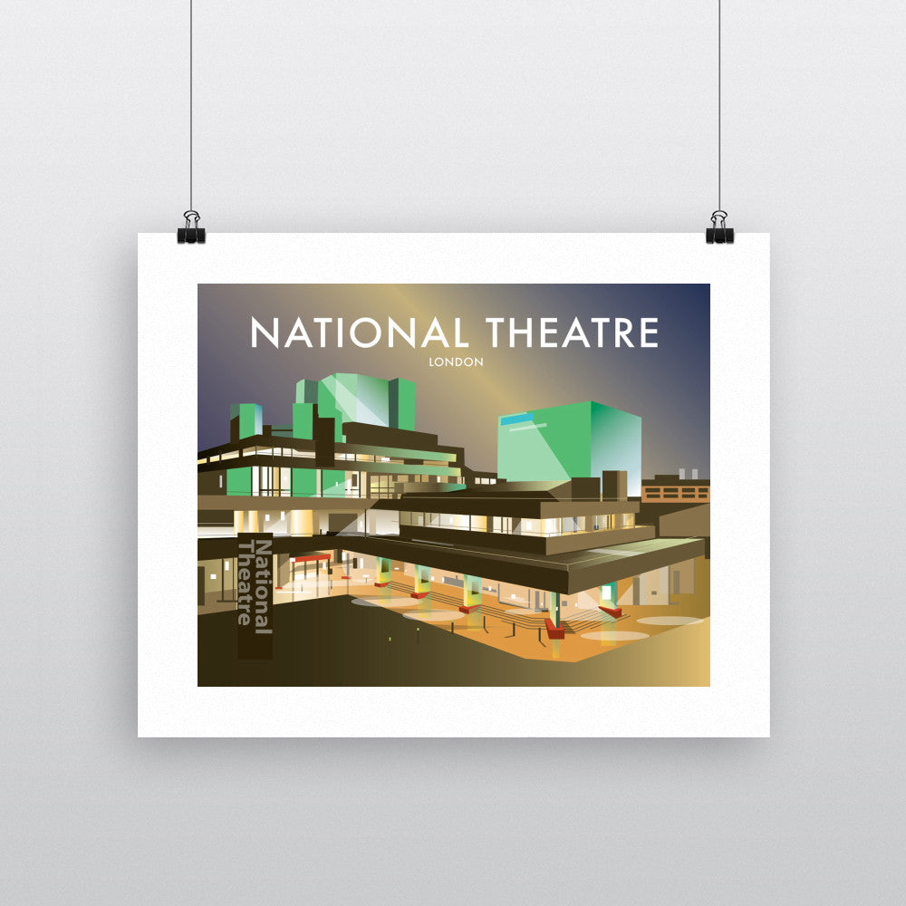 "THOMPSON282: The National Theatre, London 24"" x 32"" Matte Mounted Print"