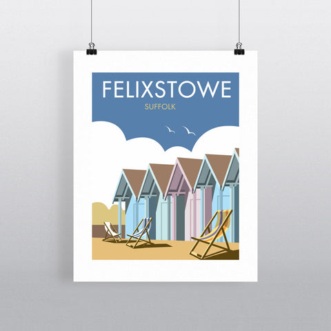 "THOMPSON285: Felixstowe, Suffolk 24"" x 32"" Matte Mounted Print"