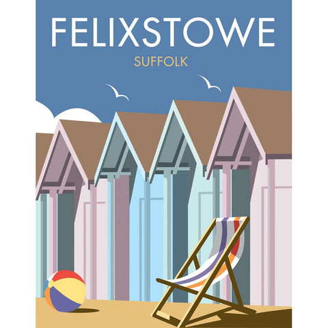 "THOMPSON286: Felixstowe, Suffolk 24"" x 32"" Matte Mounted Print"