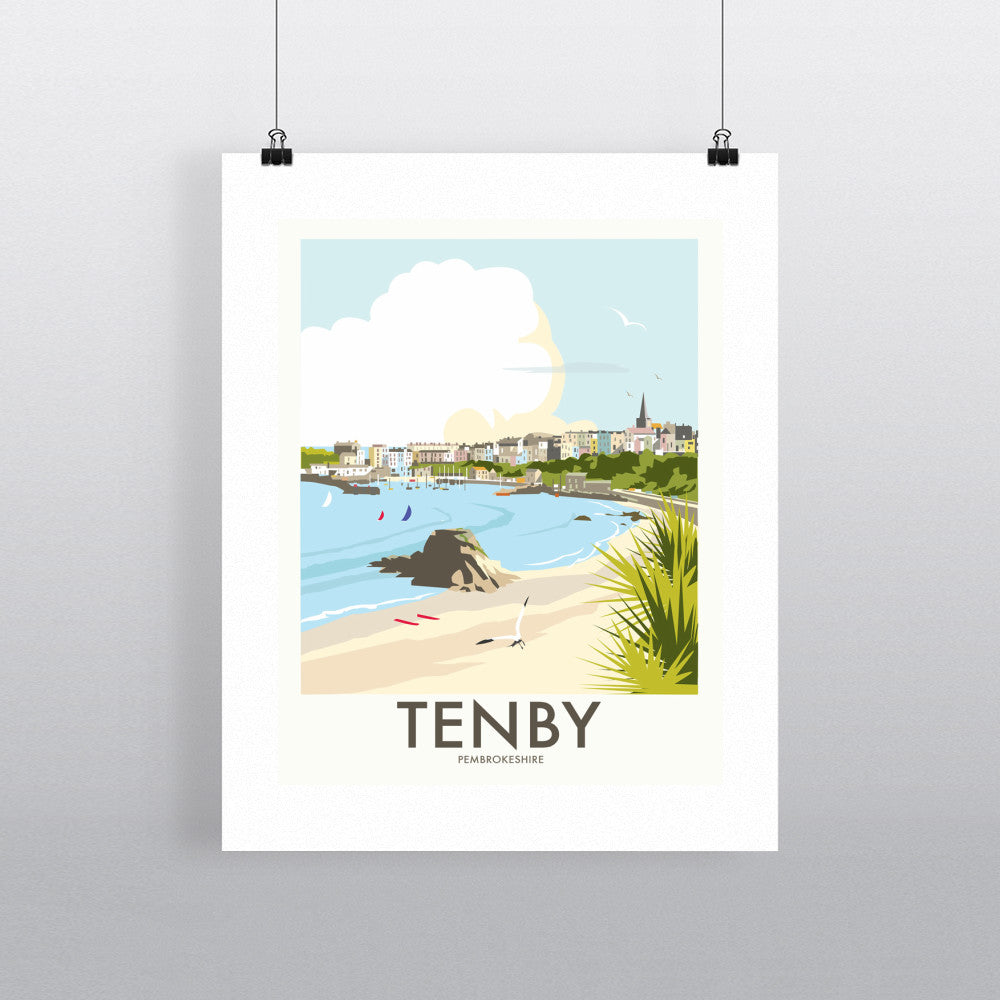 "THOMPSON288: Tenby, Wales 24"" x 32"" Matte Mounted Print"
