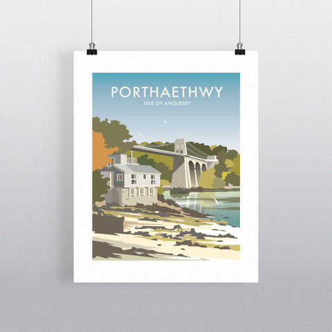 "THOMPSON294: Porthaethwy, Isle of Anglesey 24"" x 32"" Matte Mounted Print"
