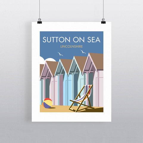 "THOMPSON302: Sutton-On-Sea, Linconshire 24"" x 32"" Matte Mounted Print"