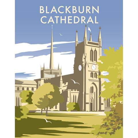 "THOMPSON312: Blackburn Cathedral, Lancashire 24"" x 32"" Matte Mounted Print"