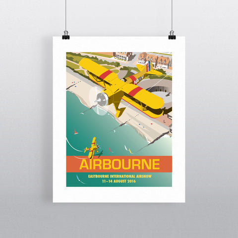 "THOMPSON314: Eastbourne Airshow, Sussex 24"" x 32"" Matte Mounted Print"