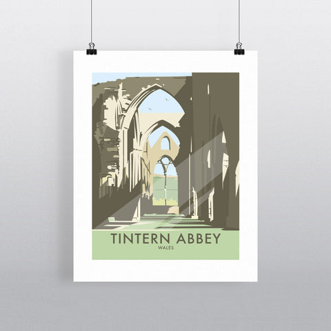 "THOMPSON318: Tintern Abbey, South Wales 24"" x 32"" Matte Mounted Print"