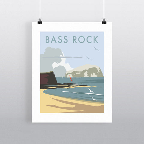 "THOMPSON322: Bass Rock, North Berwick 24"" x 32"" Matte Mounted Print"