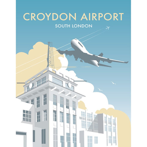 "THOMPSON325: Croydon Airport, Surrey 24"" x 32"" Matte Mounted Print"