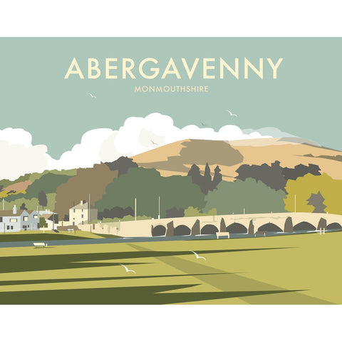 "THOMPSON329: Abergavenny, South Wales 24"" x 32"" Matte Mounted Print"