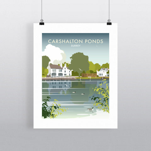 "THOMPSON330: Carshalton Ponds, Surrey 24"" x 32"" Matte Mounted Print"