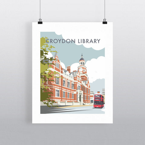 "THOMPSON335: Croydon Library, Surrey 24"" x 32"" Matte Mounted Print"