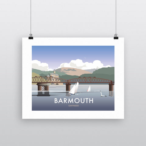"THOMPSON336: Barmouth, South Wales 24"" x 32"" Matte Mounted Print"