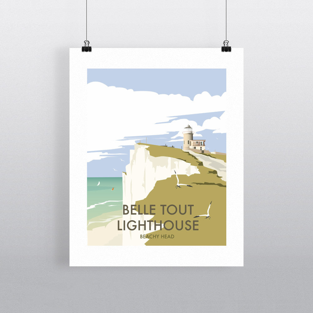 "THOMPSON340: Belle Tout Lighthouse, Sussex 24"" x 32"" Matte Mounted Print"