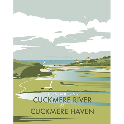 "THOMPSON341: Cuckmere River, Sussex 24"" x 32"" Matte Mounted Print"
