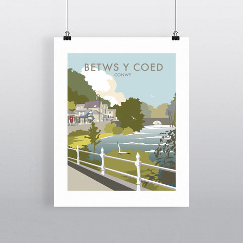 "THOMPSON342: Betws Y Coed, North Wales 24"" x 32"" Matte Mounted Print"