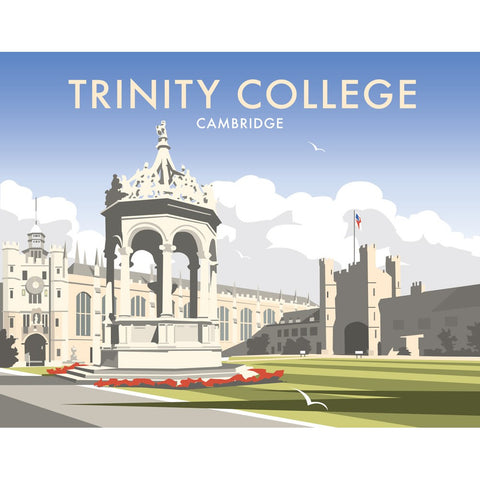 "THOMPSON347: Trinity College, Cambridgeshire 24"" x 32"" Matte Mounted Print"