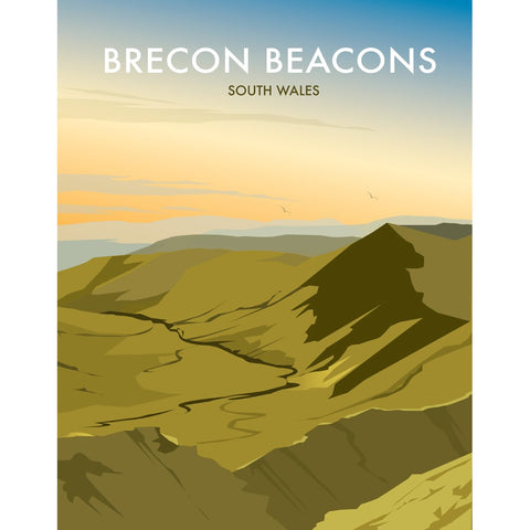 "THOMPSON348: Brecon Beacons, Wales 24"" x 32"" Matte Mounted Print"