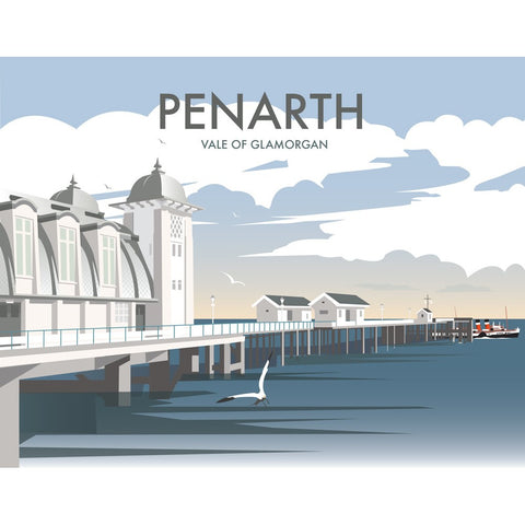 "THOMPSON349: Penarth, South Wales 24"" x 32"" Matte Mounted Print"