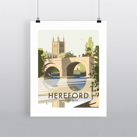 "THOMPSON350: Hereford, Herefordshire 24"" x 32"" Matte Mounted Print"