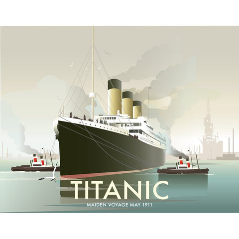 "THOMPSON357: The Titanic 24"" x 32"" Matte Mounted Print"