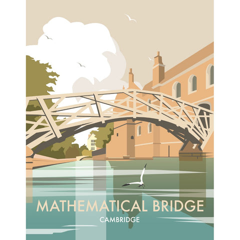 "THOMPSON359: Mathematical Bridge, Cambridge 24"" x 32"" Matte Mounted Print"