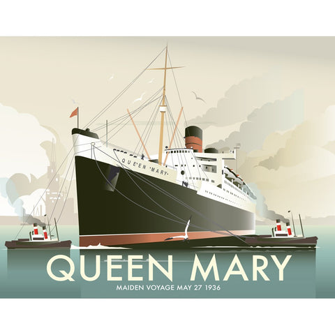 "THOMPSON361: Queen Mary 24"" x 32"" Matte Mounted Print"