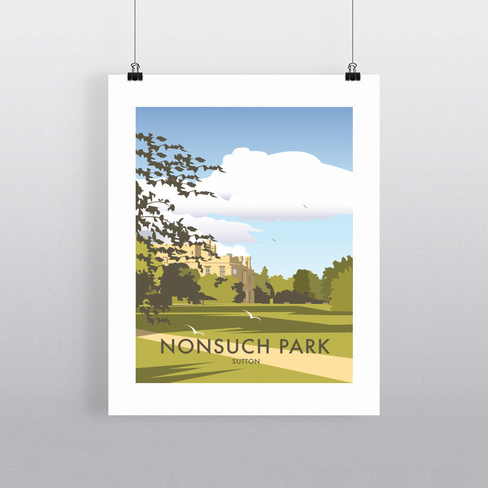 "THOMPSON362: Nonsuch Park, Sutton 24"" x 32"" Matte Mounted Print"