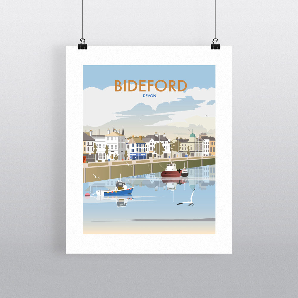 "THOMPSON371: Bideford, Devon 24"" x 32"" Matte Mounted Print"
