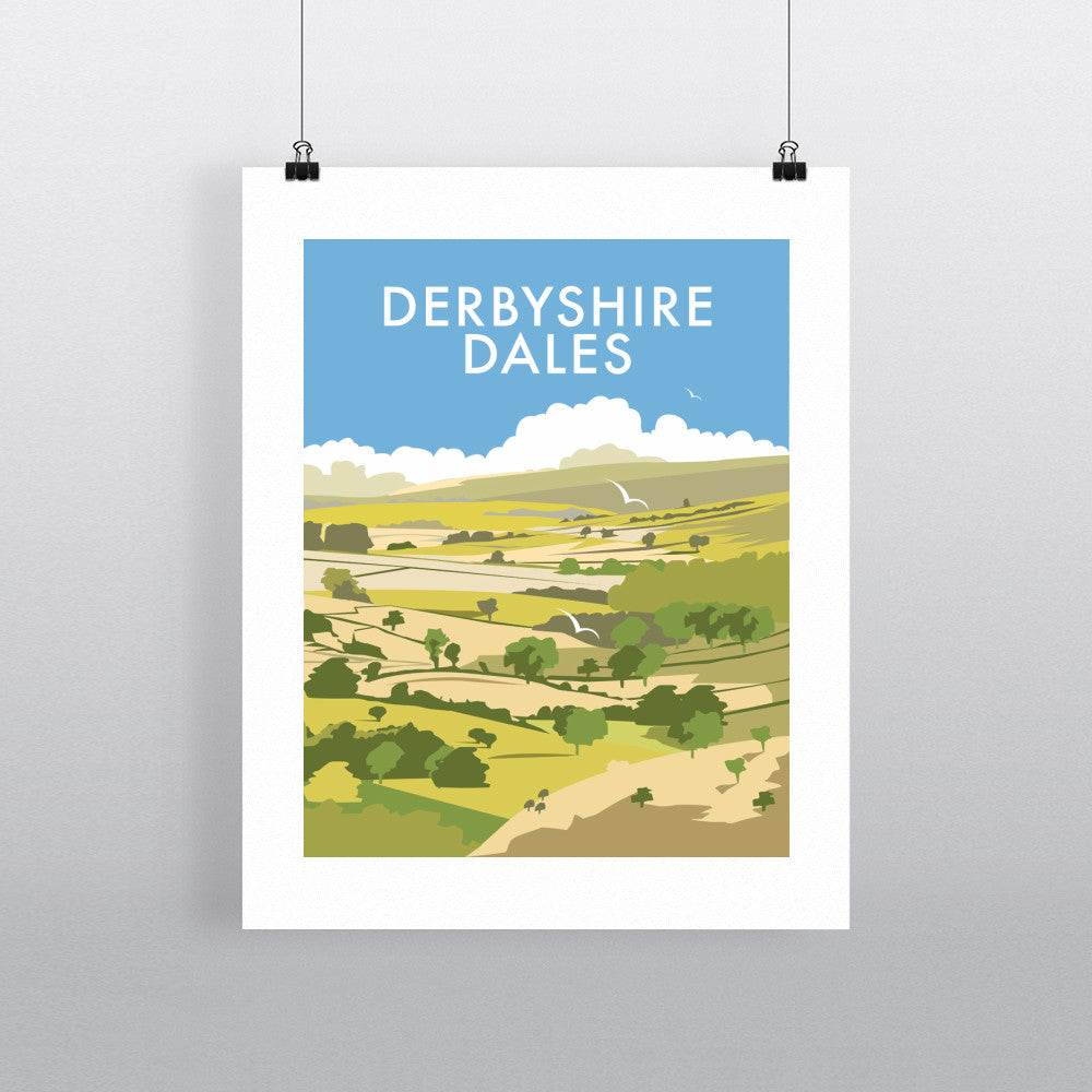"THOMPSON373: Derbyshire Dales 24"" x 32"" Matte Mounted Print"
